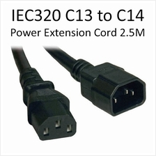 Quality IEC 320 C13 to C14 PC Power Cord Extension Cable Server 2.5m