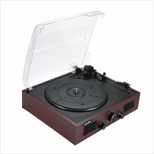 Phonograph Vinyl Record Music Player Archaistic 3-Speed Turntable