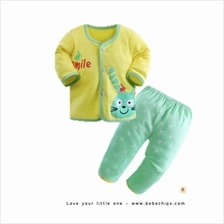 Yellow Smiley Rabbit Baby Pyjamas Baby Set Wear)