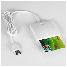 White  ABS USB Contact Smart Chip Card IC Cards Reader Writer With SIM..