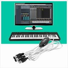 New USB IN-OUT MIDI Interface Cable Converter PC to Music Keyboard Cor..