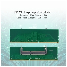 DDR3 Laptop SO-DIMM to Desktop DIMM Memory RAM Connector Adapter DDR3