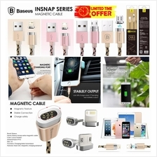 BASEUS Magnetic Lightning Micro USB Metal 2.4A Fast Charge Data Cable