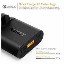 [Qualcomm Certifed] AUKEY 18W Quick Charge 3.0 USB Turbo Wall Charger