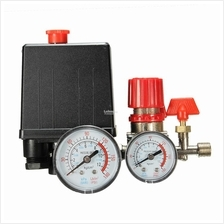 180PSI Air Compressor Pressure Valve Switch Manifold Relief Gauges Reg