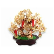 Citrine Crystal Tree with 9 Coins for Wealth Luck - Fengshui Shop