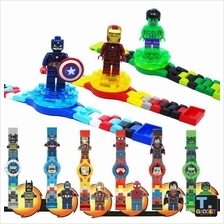 Super Heroes / Ninjago Building Watch Minifigure Rotate Block Toy lego
