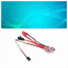 RC ESC 20A Brush Motor Speed Controller w/ Brake for RC Car Boat Tank ..