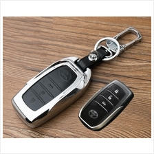 Toyota Camry 2.0 2.5 Hybrid Metal Leather Keyless Remote Key Cover