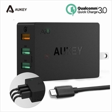 Original AUKEY USB Quick Charge 3.0 3-Port USB Wall Charger