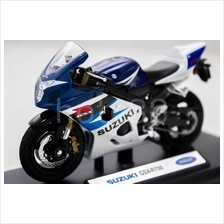 WELLY Die Cast Motorcycle Suzuki GSX-R750 1/18 Blue Color Collection