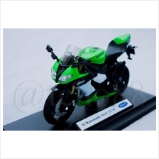 WELLY Die Cast Motorcycle Green Kawasaki Ninja ZX-10R 1/18 Collection