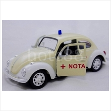 WELLY Die Cast Car Yellow Volkswagen Beetle Ambulance Collection