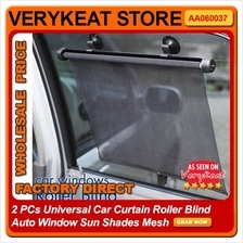 2PCS Sunshade Sunscreen Sun Shade Car Windshield Curtain Blind Roller