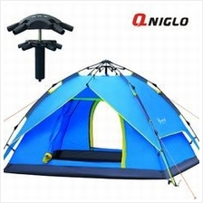 QNIGLO 3-4 Person Tent Waterproof WeatherTec System(Blue)