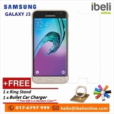 Samsung Galaxy J3 Premier HD 9H Tempered Glass+Free iRing Phone Stand &Free Bu