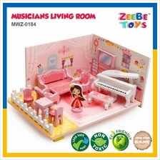 ZEEBE TOYS 3D Musicians Living Room Wooden Educational Toy MWZ-0184