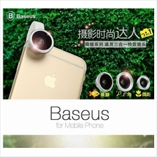 ORIGINAL BASEUS Phone Camera Lens Fish Eye+Wide Angle+Macro Lens