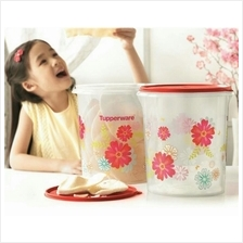Tupperware Fortune Blooms Giant Canister (2) 8.6L
