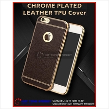 iPhone 5 6 6s 6+ 7 7 Plus Redmi Note 3 Chrome Plated TPU Leather Cover