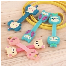 Headphone Earphone Earbud Silicone Cable Cord Wrap Winder Organizer Ho..