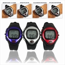 Pulse Heart Rate Monitor Calories Counter Fitness Watch Time Stop Watc..