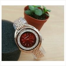 SWAROVSKI CRYSTALLINE OVAL CHAIN WATCH