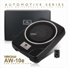 "MBQ AW-10e 10"" Car UnderSeat Super Slim Active Subwoofer"