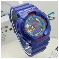 (Copy Original) G-Shock Baby-G Fashion Sport Watch - Blue  & Gold