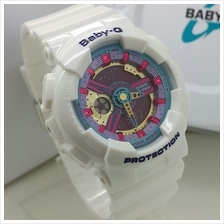(Copy Original) G-Shock Baby-G Fashion Sport Watch - White  & Gold