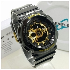 (Copy Original) G-Shock Baby-G Fashion Sport Watch - Black  & Gold