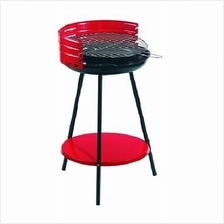 36cm Round Charcoal BBQ Grill Stove (Red)