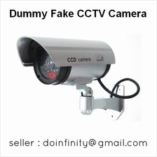 Realistic Fake Dummy Surveillance CCTV Security Camera Red LED Light