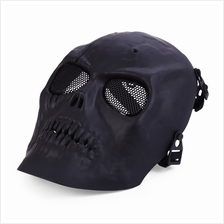 SKULL MASK PAINTBALL FULL FACE AIRSOFT  PROTECTOR (BLACK)