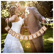 JUST MARRIED BANNER / Wedding Banner / Fall in Love Banner