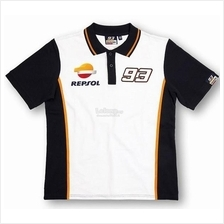 Moto GP Sport Motorcycle Racing Repsol 93 Marquez POLO Men T-shirt