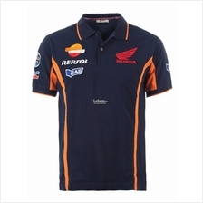 Honda Motorbike Racing Gas Repsol Motor Ranch 46 VR POLO Men T-shirt