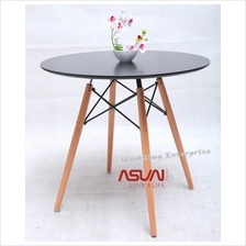 Free Gift + Eames Designer 60Cm Birch Round Dining Coffee Table