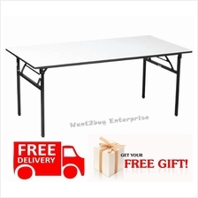 Free Gift + Banquet Foldable Folding Study Office Table (Rectangular)