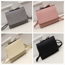 PU Leather Ribbon Shoulder Bag (4 Colours Available)