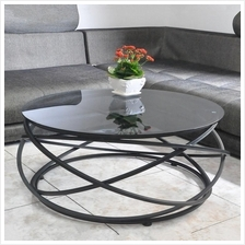 523397462499	toughened glass coffee table creative circular iron