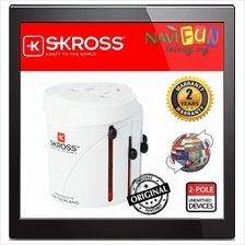 ★ SKROSS World Adapter Classic [Max Load 2.4A] Travel Adapter