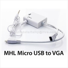 Micro USB to VGA Audio MHL Adapter Android Phone Tablet VGA Monitor