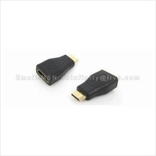 Mini HDMI Male to HDMI Female Gold Plated Adapter Video Converter New