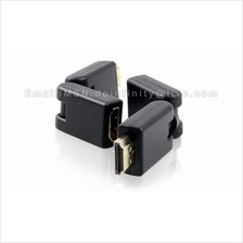 New 360 Degree Rotation HDMI Male to Female Swivel Adapter Converter