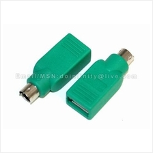 New USB to PS2 PS/2 Mouse Keyboard Adapter Converter PC Notebook