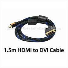 New 1.5m Gold Plated HDMI to DVI-D Cable PC Laptop LCD PS3 Monitor