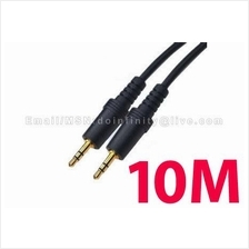 New 3.5mm Male Stereo Gold AUX Auxiliary Audio Cable 10M Car MP3 iPod