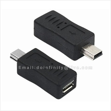 Micro USB Female to Mini USB Male Adapter Converter Data Charging New