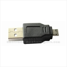 USB A Male to Micro USB B Male Adapter Converter PC Phone Camera MP3